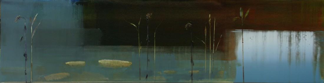 Stephen Pentak 2014, X.III, 2014 oil on panel 18 x 72 in.