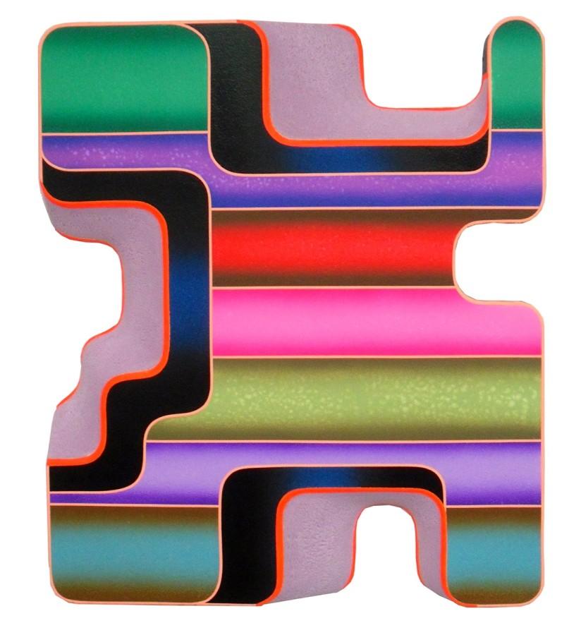 Rory MacArthur Earthling, 2013 acrylic on styrofoam 29 x 24 x 4 in.
