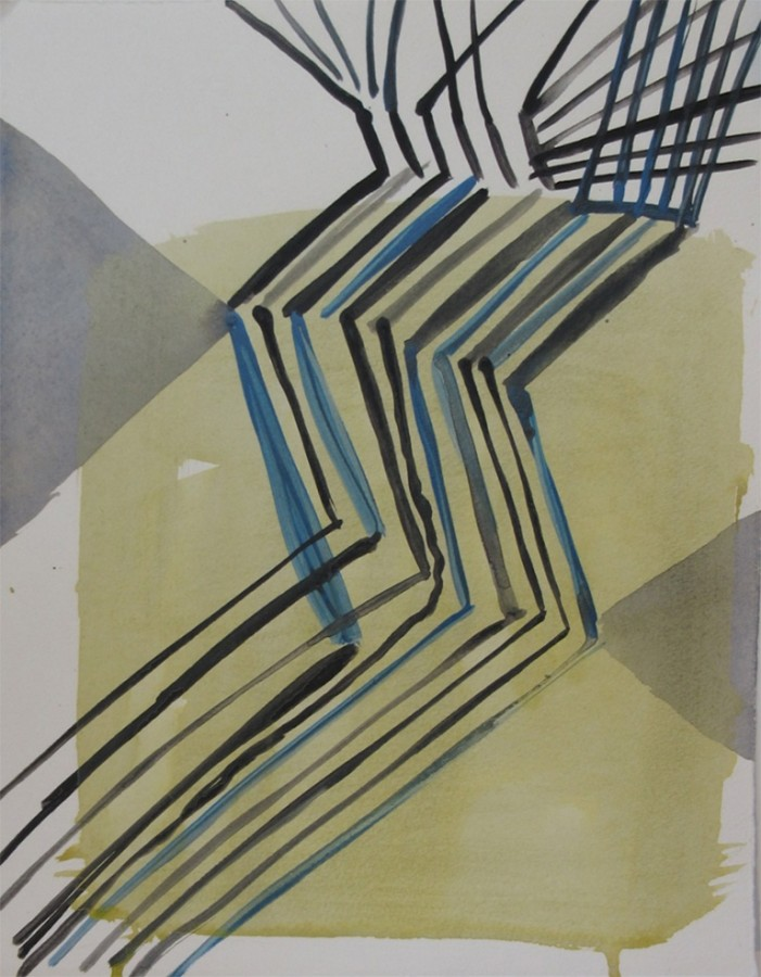Ky Anderson  2015 Small Series #21, 2015  acrylic and ink on paper  12 x 9 in  framed $425
