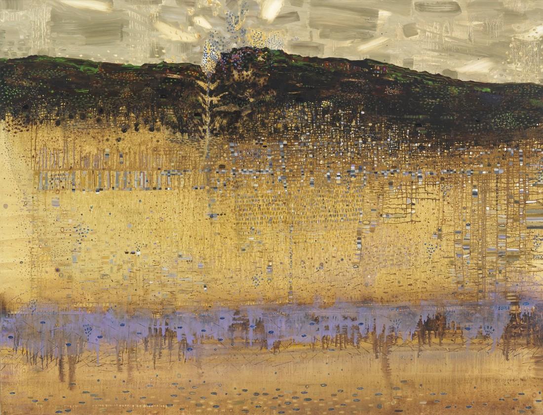Anne Neely Beneath, 2014 oil on linen 60 x 80 in.