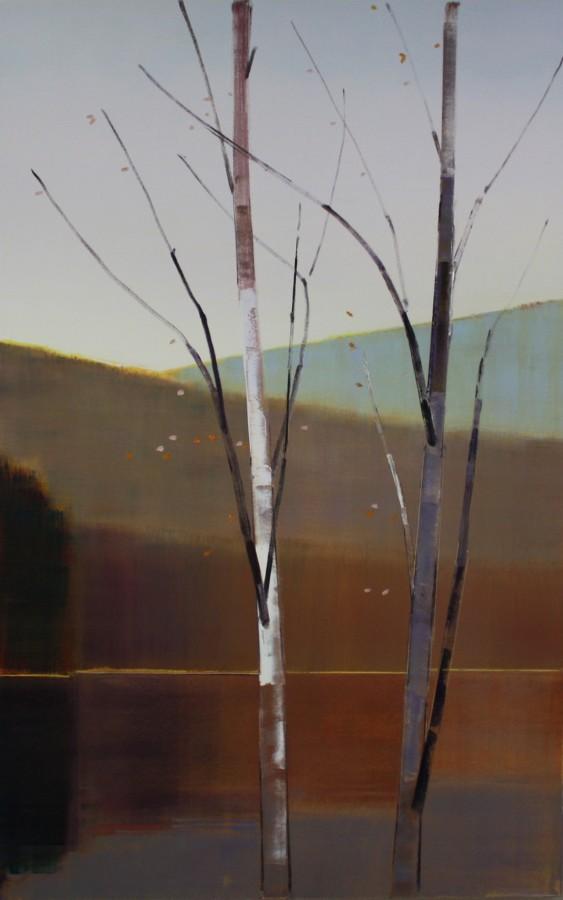 Stephen Pentak 2014, X.VII, 2014 oil on panel 64 x 40 in.