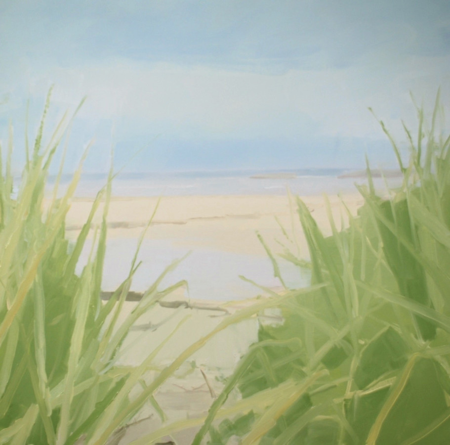 Sara MacCulloch Beach Grass Path, 2014 oil on canvas 40 x 40 in.