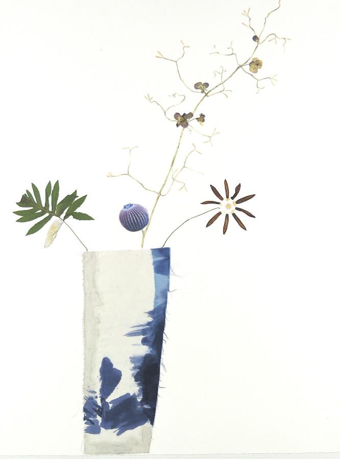 Marilla Palmer, Blue Cactus, Blue Violets , 2017