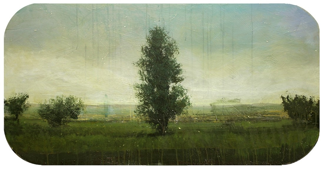 Peter Hoffer Hampton, 2012 oil and acrylic on panel 24 x 48 in.