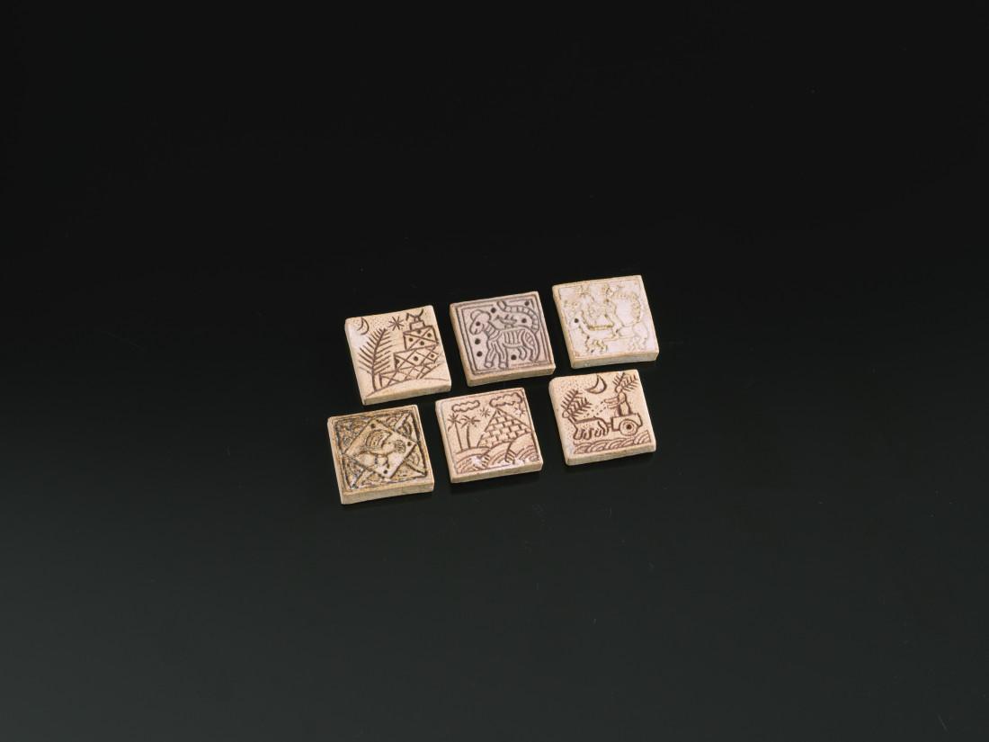 Ian Godfrey, Set of Six Tiles, c1970