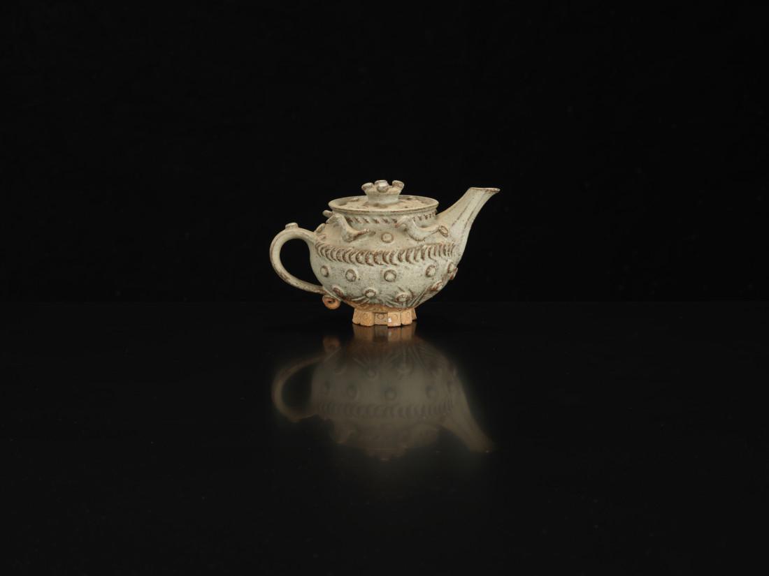 Ian Godfrey, Footed Teapot with Ducks, C1970s