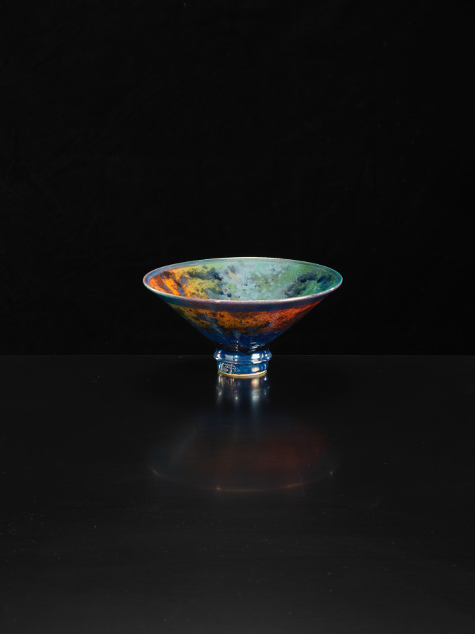 Sutton Taylor, Orange and Green Footed Dish, 2018