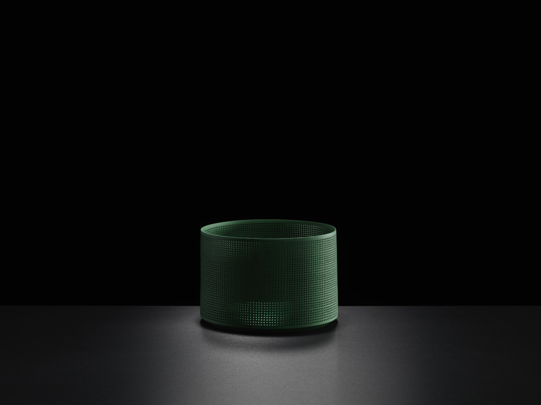 Niisato Akio, Green Cylinder, 2019