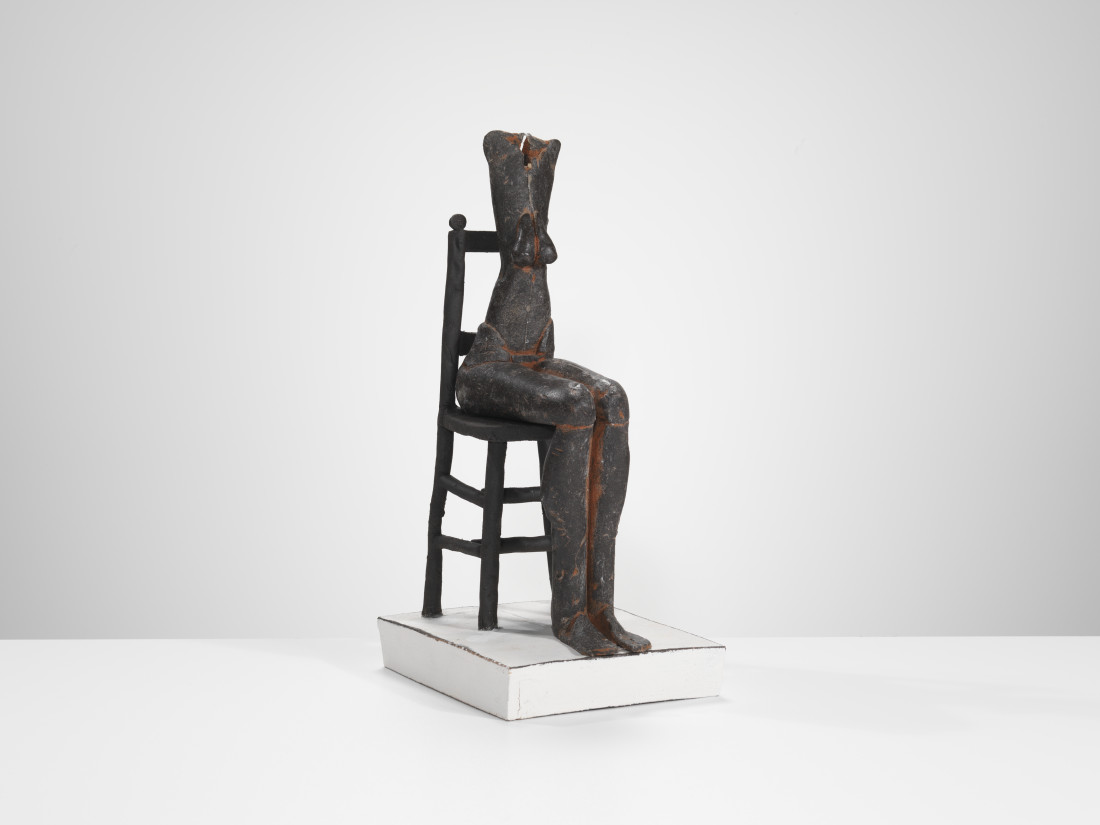 Mo Jupp, Black Figure Seated on Black Chair