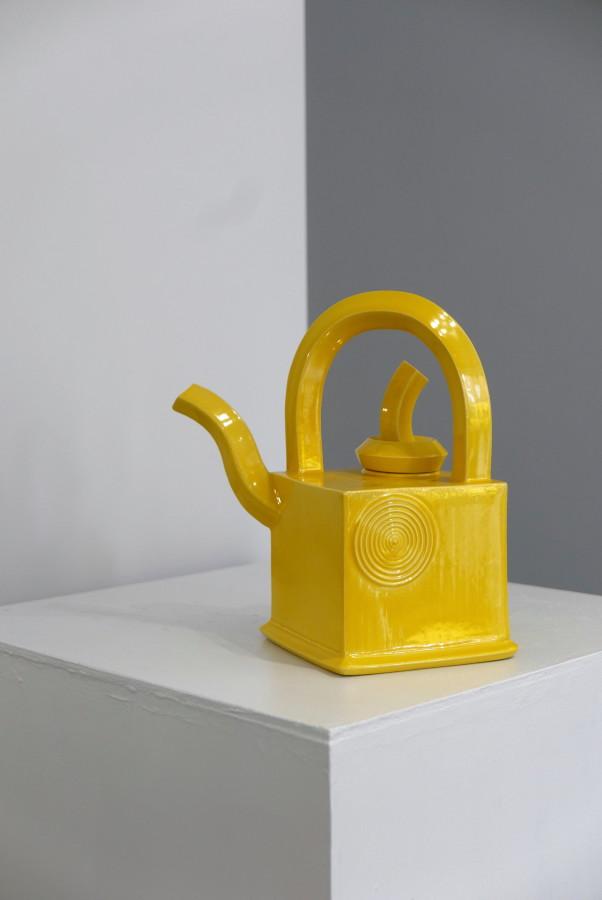 Walter Keeler, Square Yellow Teapot