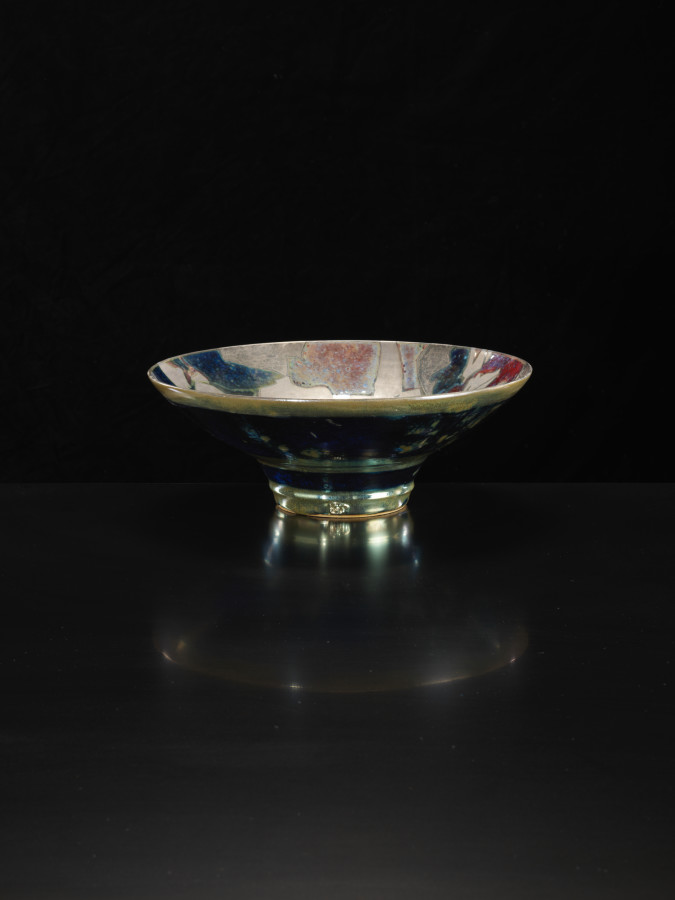 Sutton Taylor, Matt Silver Patterned Dish, 2018