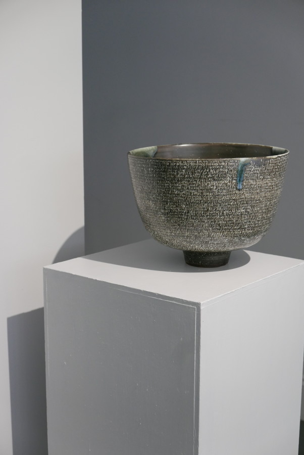 Rupert Spira, Deep Bowl with incised poem