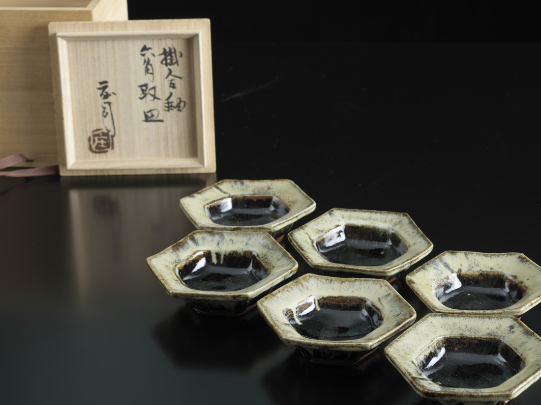 Shoji Hamada, Set of six hexagonal dishes