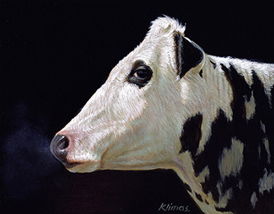 Alexandra Klimas, Miniature painting, Lobke the Cow