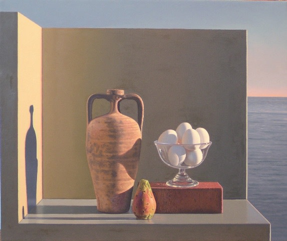 David ligare, Urn and eggs
