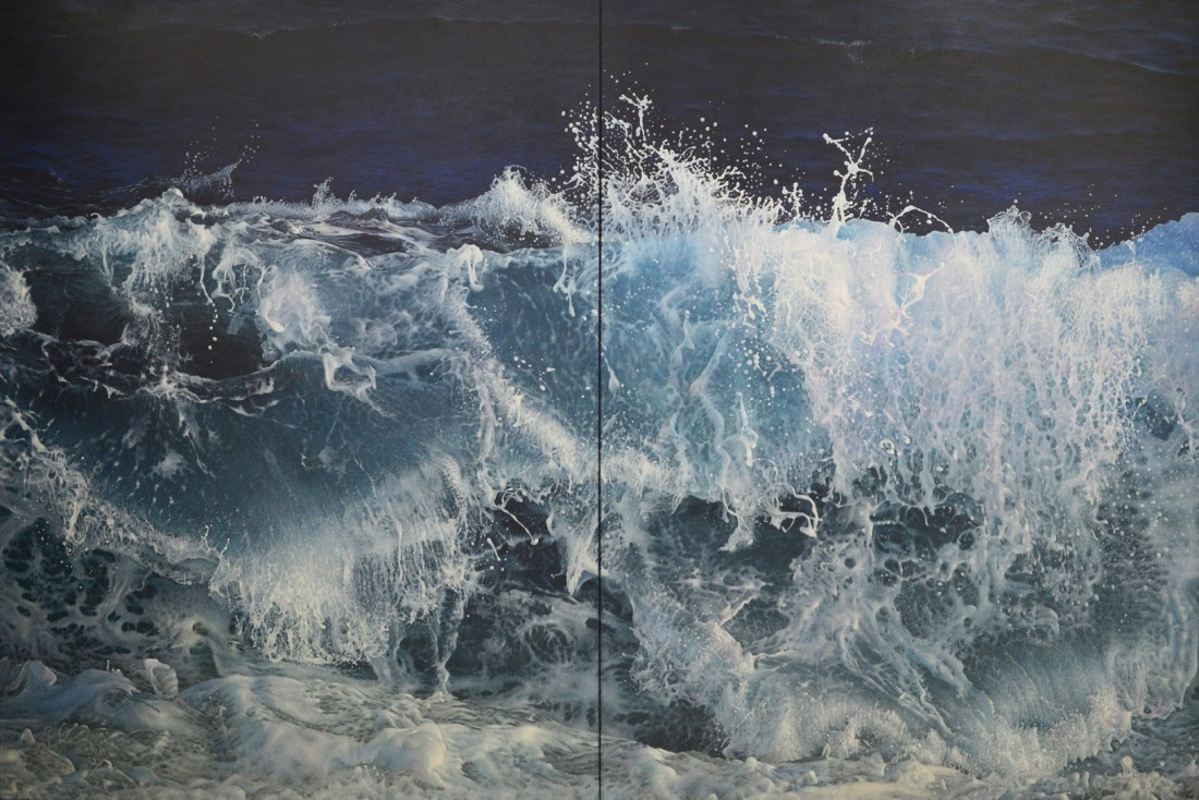 Antonis Titakis, Wave in the Light of the Moon (Diptych), 2016