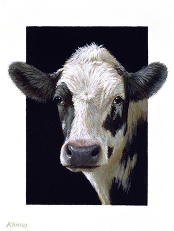Alexandra Klimas, Miniature painting, Emmy a yearling Calf