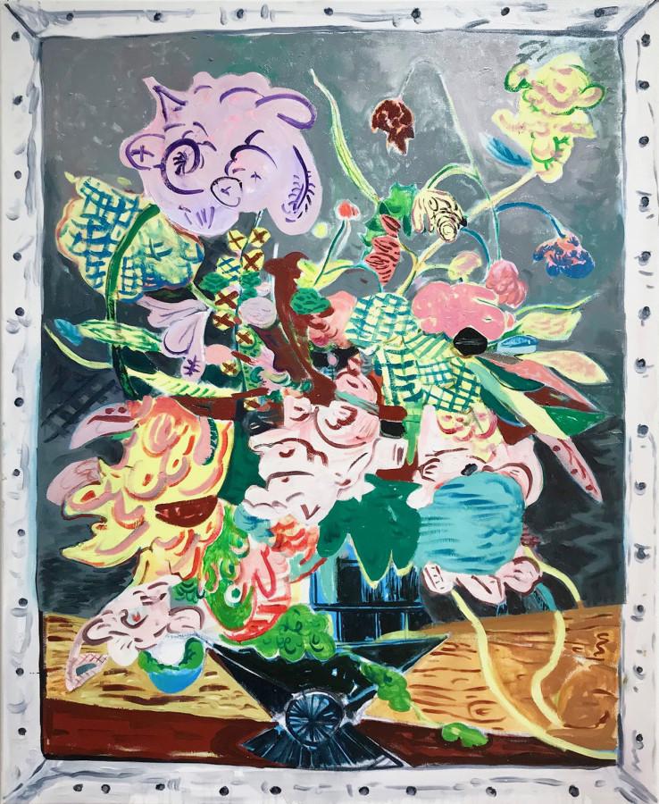 David Price b.1972Still Life, May, 2018 Oil on canvas 100 x 81cm