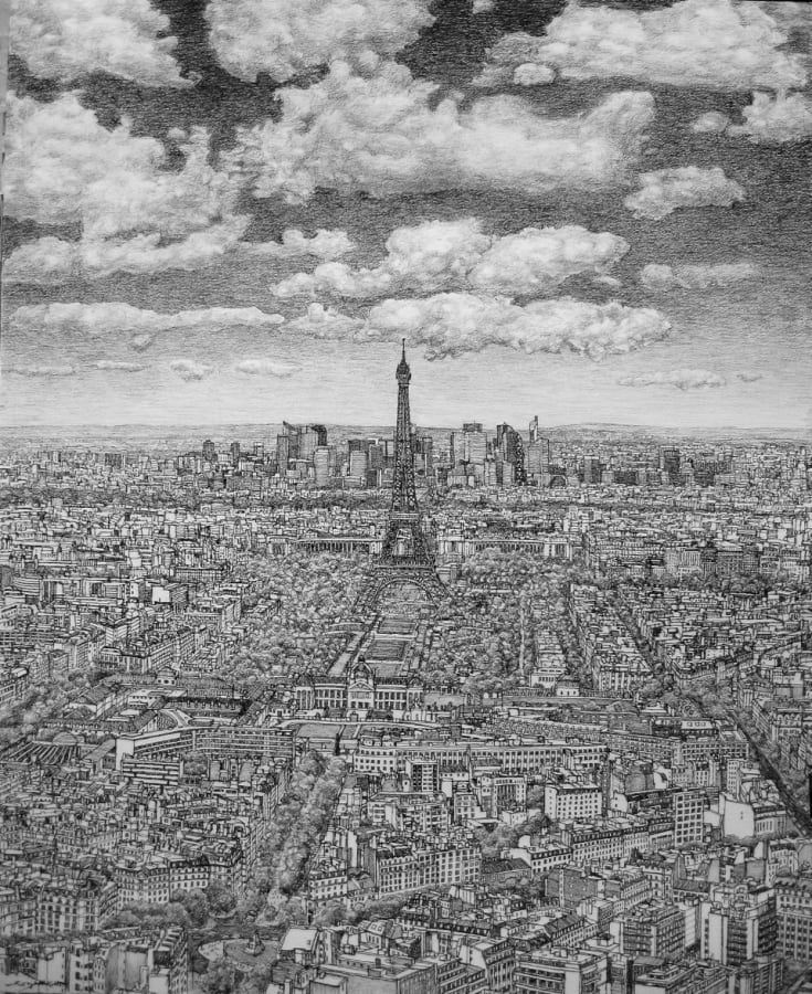 Roy Wright, Paris from Montparnasse towards La Defence, 2015