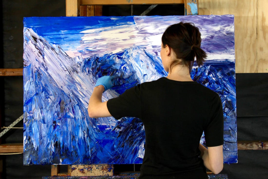 Holly Zandbergen, Holly in her studio