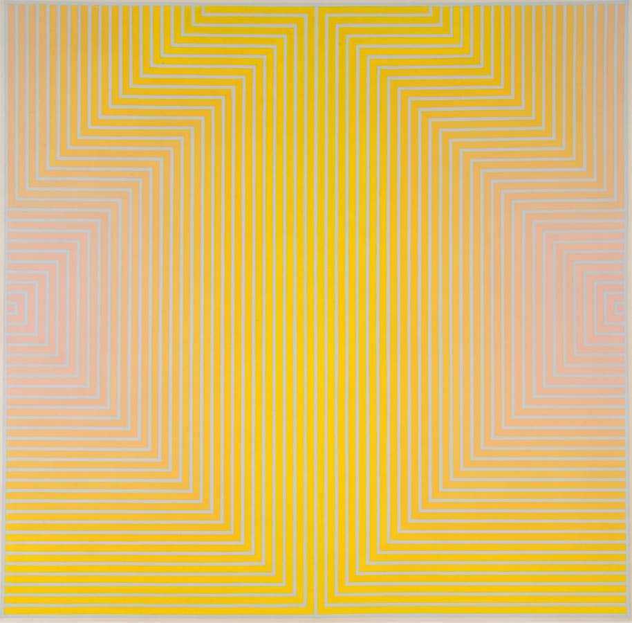 David Whitaker, Red And Yellow On Blue, 1968
