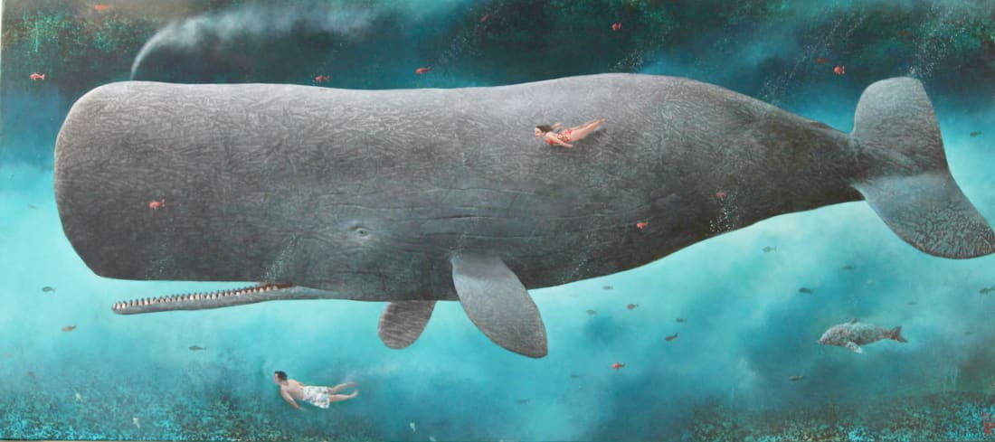 Sylvain Lefebvre, Close encounter with an old wise whale, 2019