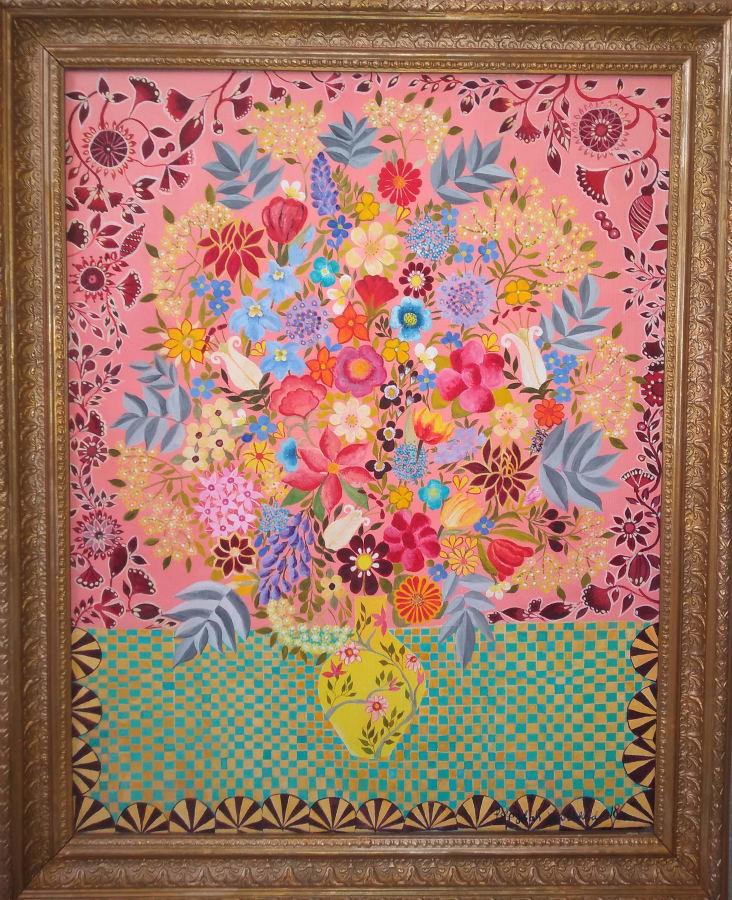 Hepzibah Swinford, Tapestry Flowers, 2018