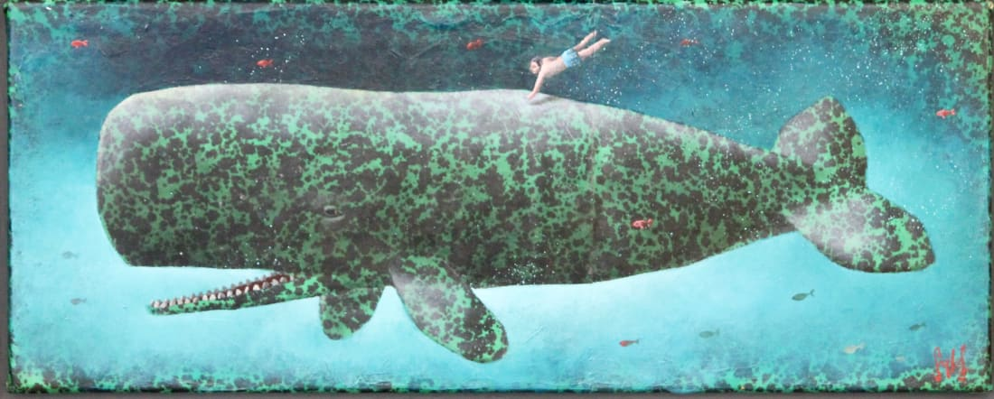 Sylvain Lefebvre, The Green Speckled Whale, 2019