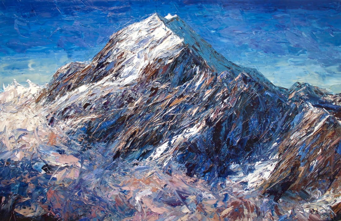 Holly Zandbergen, Aoraki In The Clouds, 2019