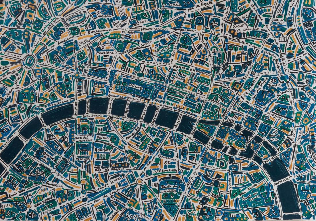 Barbara Macfarlane, Paris Dark Emerald, Prussian Blue, 2020