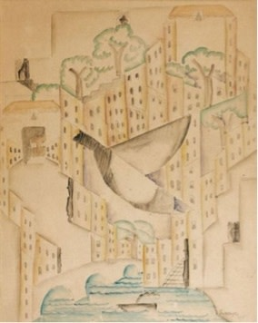 "<span class=""title"">Man and Bird in the Town<span class=""title_comma"">, </span></span><span class=""year"">1915</span>"