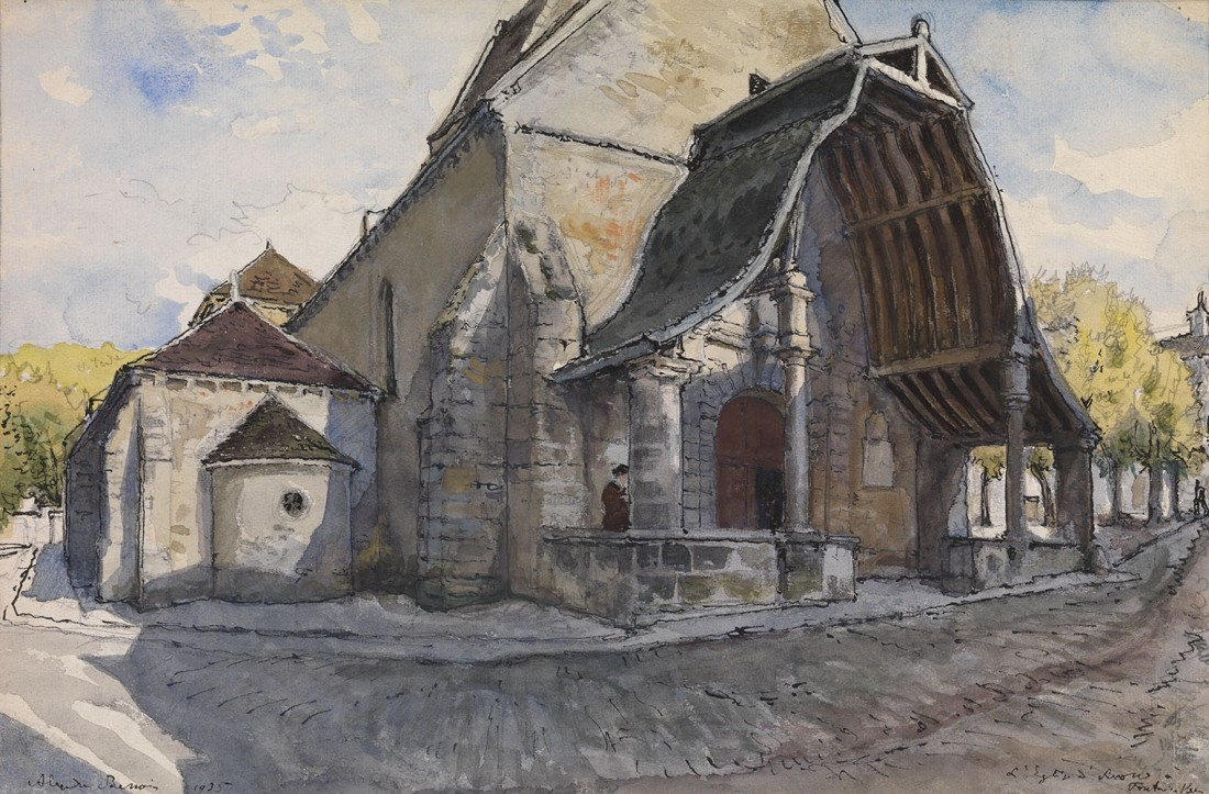 "<span class=""title"">The Church d'Avon at Fontainbleau<span class=""title_comma"">, </span></span><span class=""year"">1935</span>"