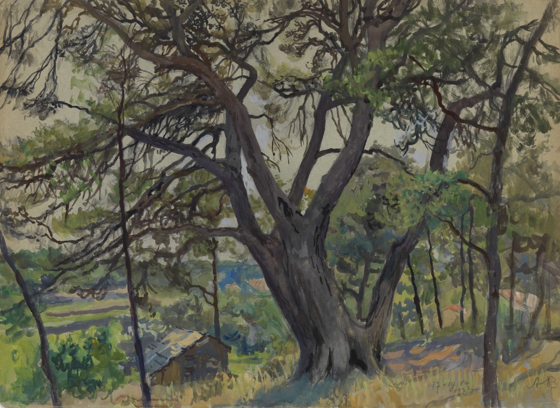 "<span class=""title"">Woods in Cassis<span class=""title_comma"">, </span></span><span class=""year"">1932</span>"
