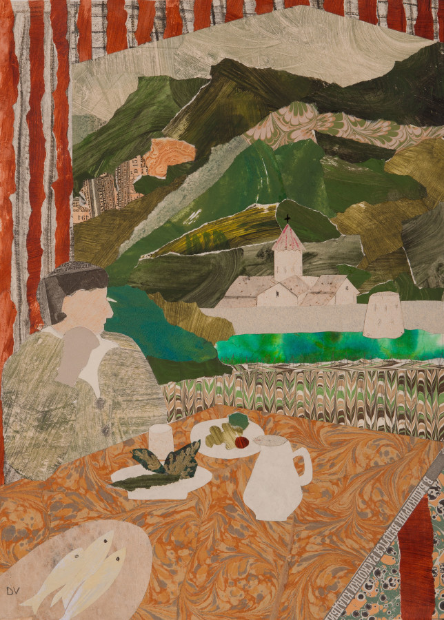 "<span class=""artist""><strong>Dione Verulam</strong></span>, <span class=""title""><em>Lunch at Tatev, Armenia (London Gallery)</em></span>"
