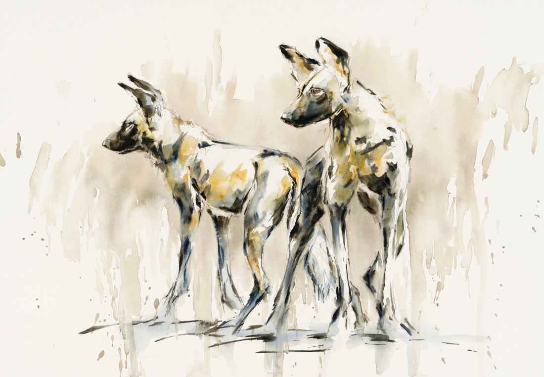 """<span class=""""artist""""><strong>Julia Cassels</strong></span>, <span class=""""title""""><em>Wild Dogs II</em></span>"""