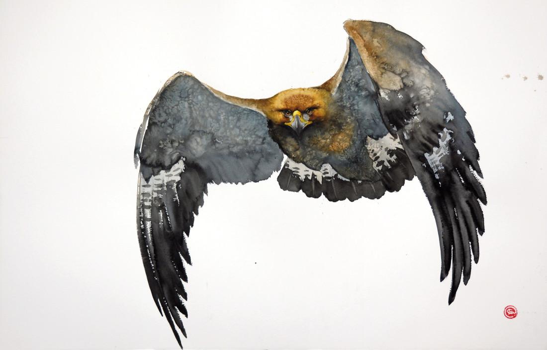 "<span class=""artist""><strong>Karl Martens</strong></span>, <span class=""title""><em>Golden Eagle Flying II (Unframed)</em></span>"