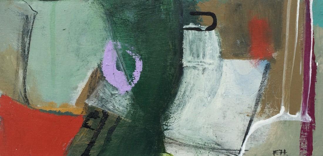 <span class=&#34;artist&#34;><strong>Felice Hodges</strong></span>, <span class=&#34;title&#34;><em>Aqua Jug and Purple, 2016</em></span>