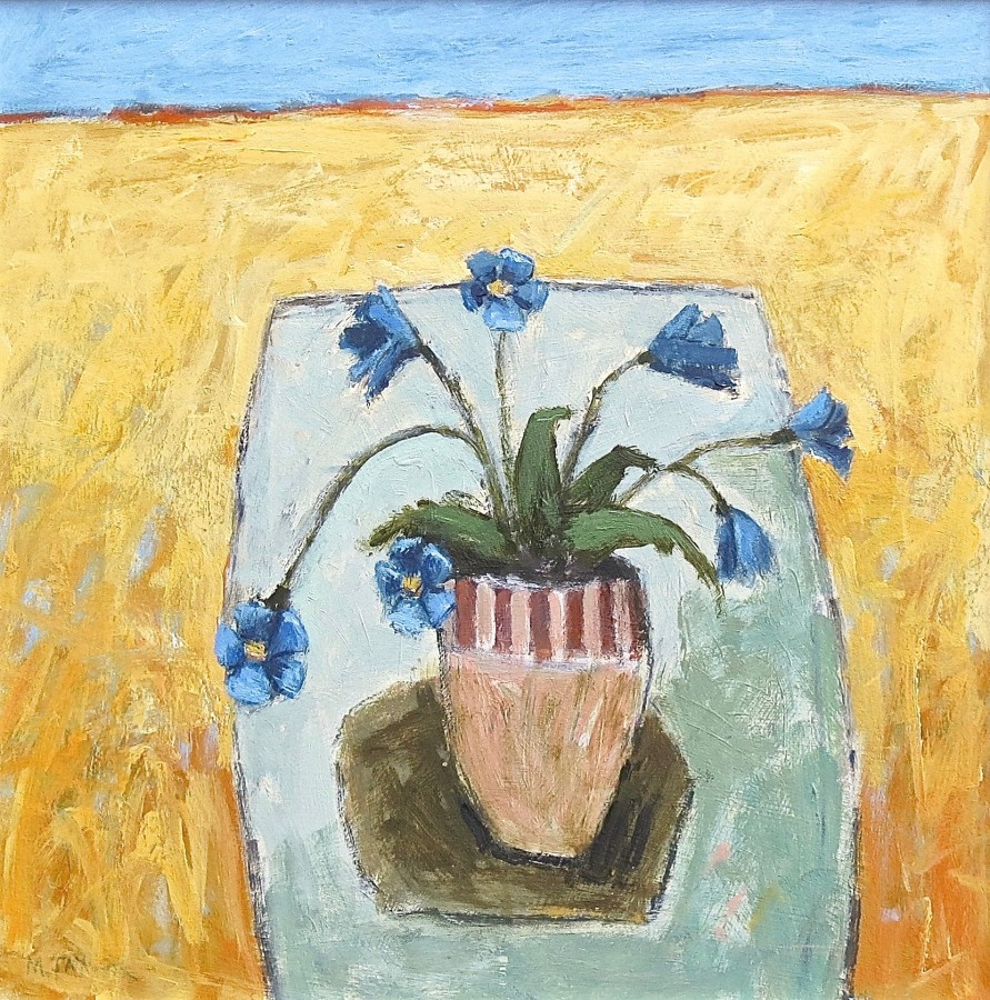 <span class=&#34;artist&#34;><strong>Malcolm Taylor</strong></span>, <span class=&#34;title&#34;><em>Primula Blue</em></span>