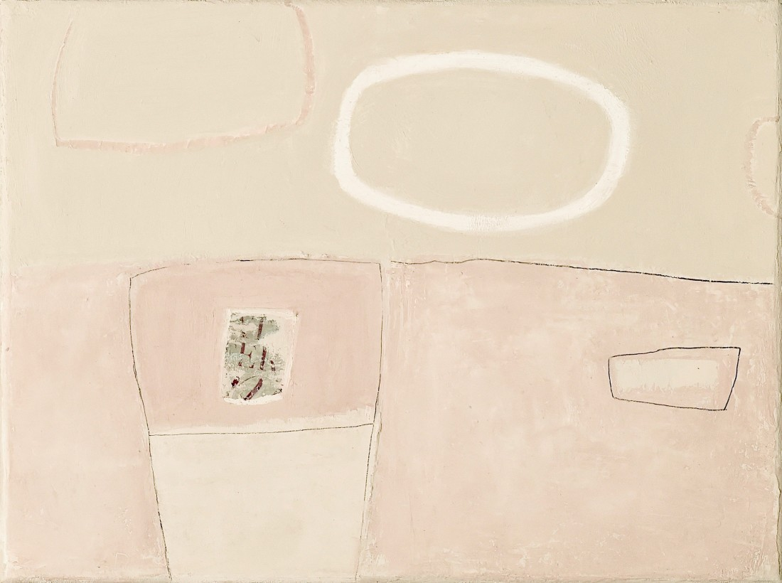 "<span class=""artist""><strong>Jenny Lock</strong></span>, <span class=""title""><em>Composition in Pink II</em></span>"