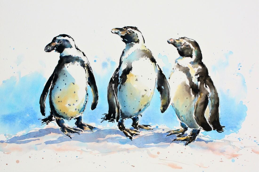 <span class=&#34;artist&#34;><strong>Julia Cassels</strong></span>, <span class=&#34;title&#34;><em>Three Wise Penguins</em></span>