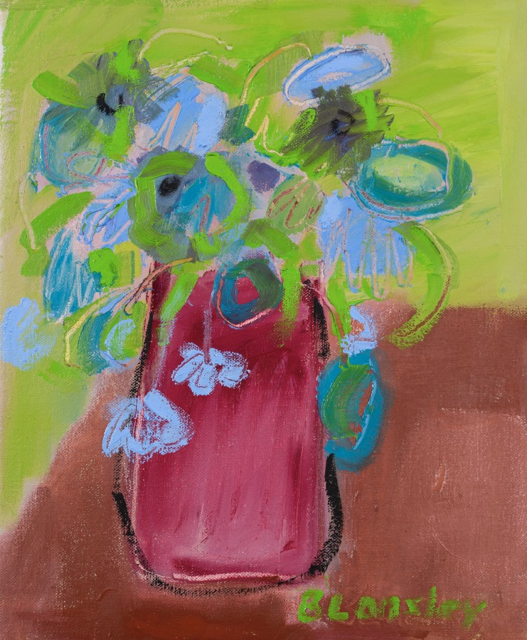 "<span class=""artist""><strong>Bridget Lansley</strong></span>, <span class=""title""><em>Cornflower Blue</em></span>"