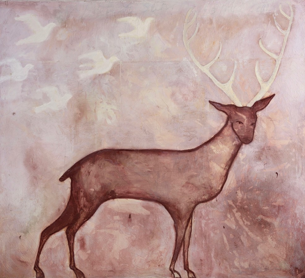 "<span class=""artist""><strong>Kate Boxer</strong></span>, <span class=""title""><em>Stag II</em></span>"