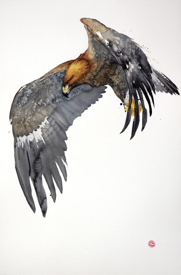 "<span class=""artist""><strong>Karl Martens</strong></span>, <span class=""title""><em>Golden Eagle Flying I (Unframed)</em></span>"