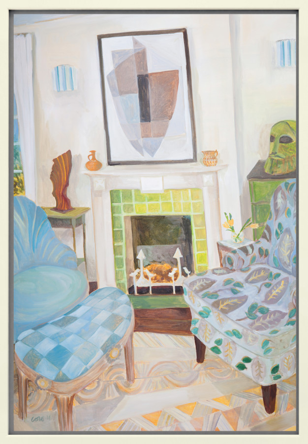 <span class=&#34;artist&#34;><strong>Lottie Cole</strong></span>, <span class=&#34;title&#34;><em>Interior with Kathleen Guthrie, Elisabeth Frink and Bryan Ingham</em></span>