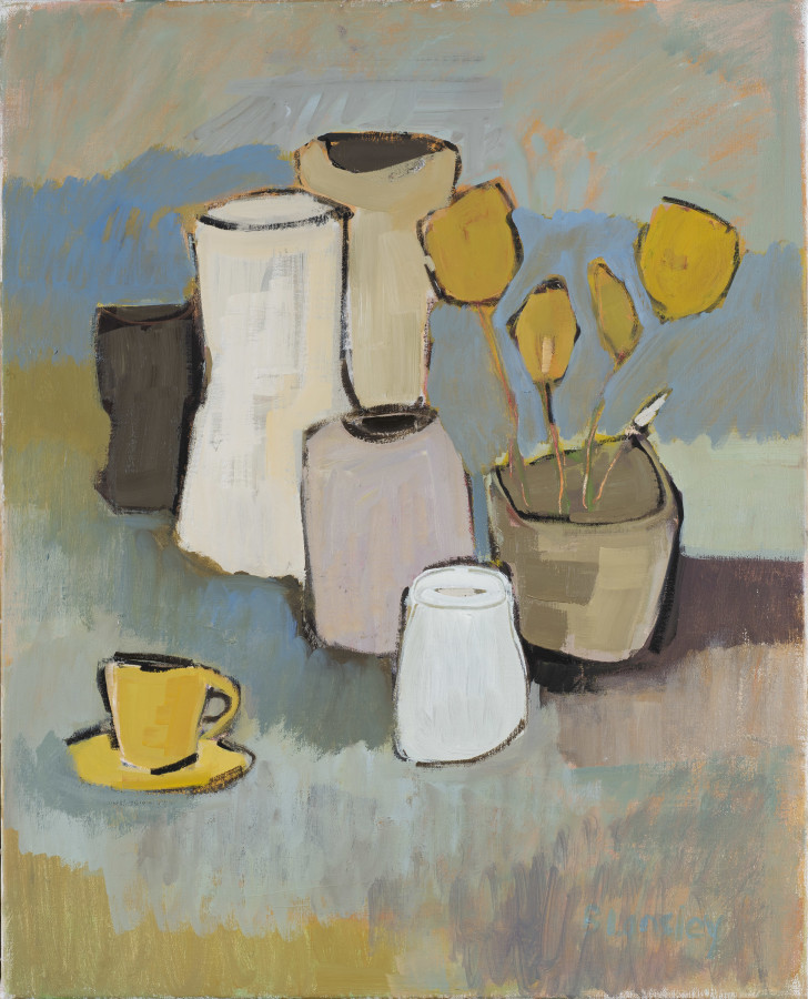 "<span class=""artist""><strong>Bridget Lansley</strong></span>, <span class=""title""><em>Storm in a Teacup</em></span>"
