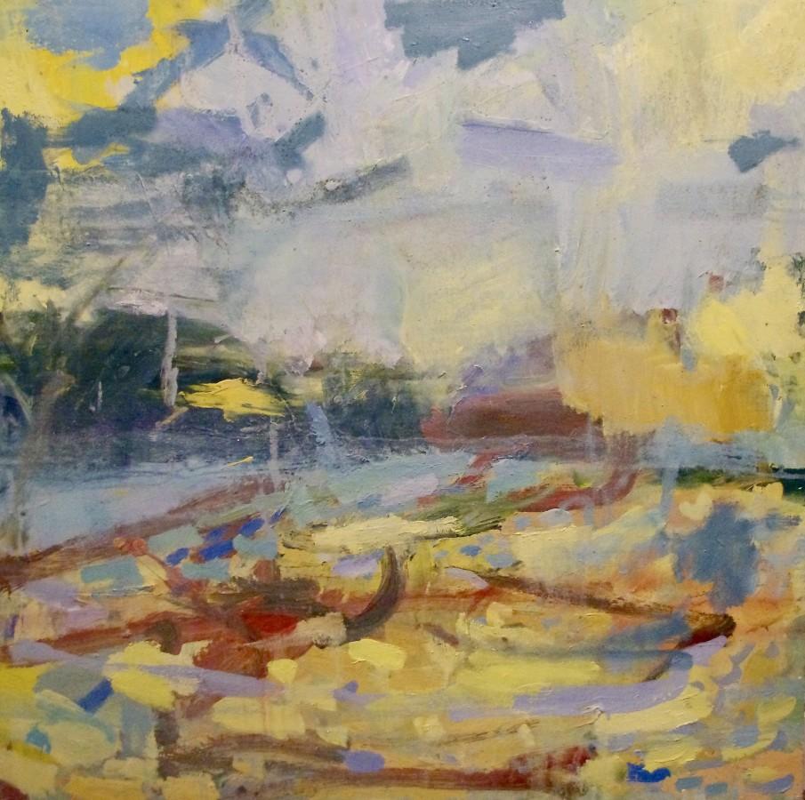 "<span class=""artist""><strong>Paul Wadsworth</strong></span>, <span class=""title""><em>Porthmeor Beach, St Ives - Summer Morning</em></span>"