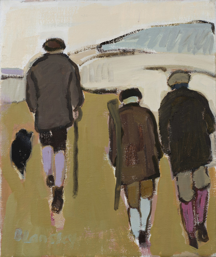 "<span class=""artist""><strong>Bridget Lansley</strong></span>, <span class=""title""><em>Chalk Downland</em></span>"