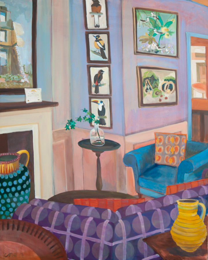 """<span class=""""artist""""><strong>Lottie Cole</strong></span>, <span class=""""title""""><em>Interior with John Armstrong, Simon Bussy and Cedric Morris</em></span>"""