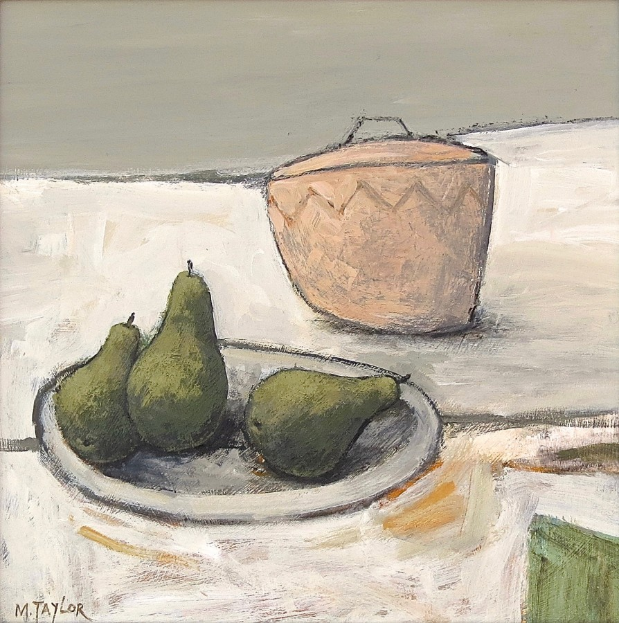 <span class=&#34;artist&#34;><strong>Malcolm Taylor</strong></span>, <span class=&#34;title&#34;><em>Three Pears</em></span>