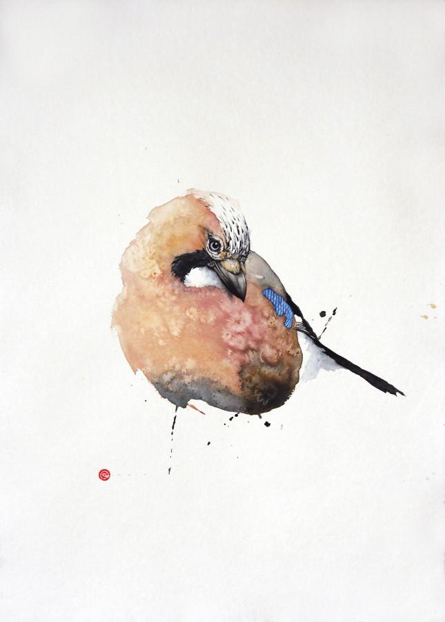 """<span class=""""artist""""><strong>Karl Martens</strong></span>, <span class=""""title""""><em>Jay I (Unframed)</em></span>"""